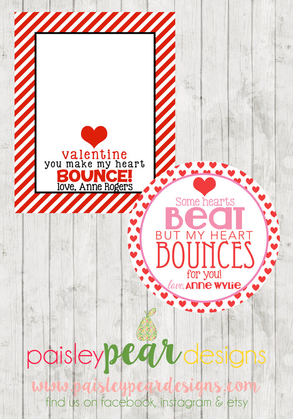 Heart Bounces - Valentine Tags