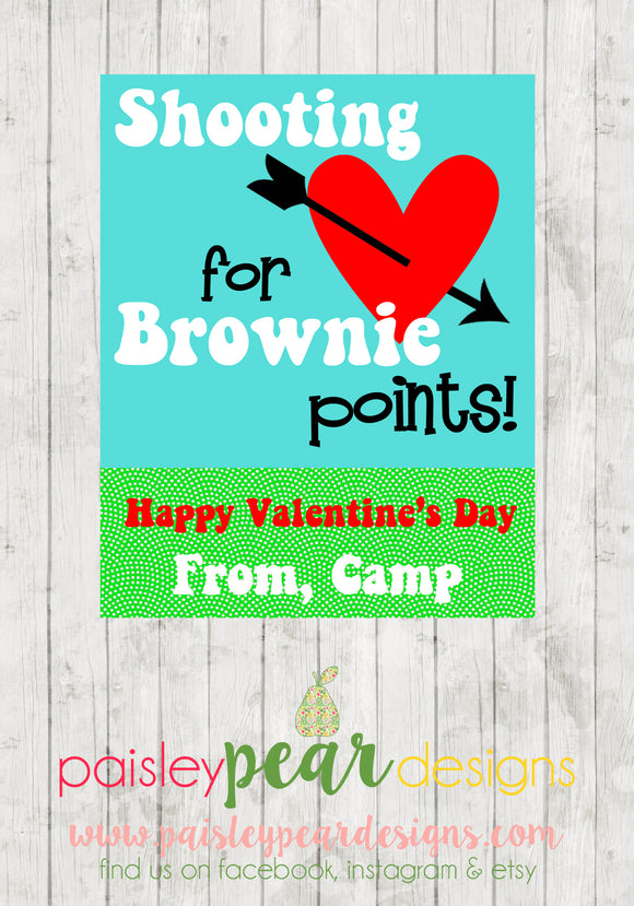 Brownie Points - Valentine Tags