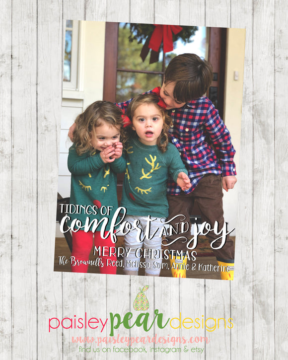 Comfort and Joy - Christmas Photo Card