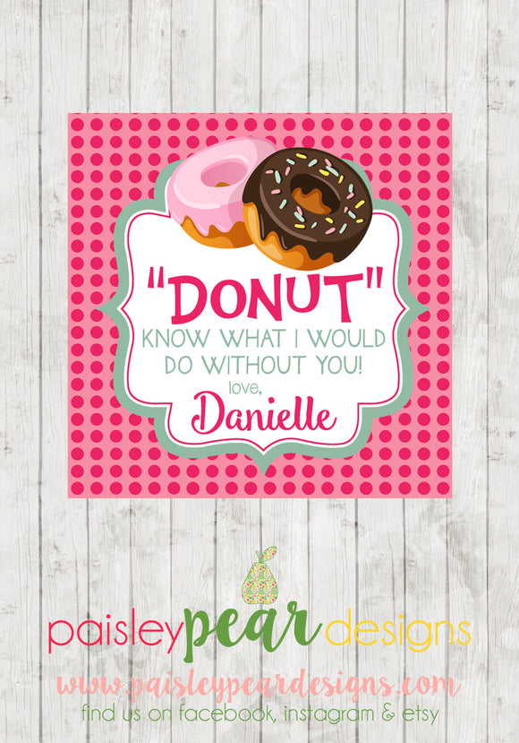 Donut - Valentine Tags