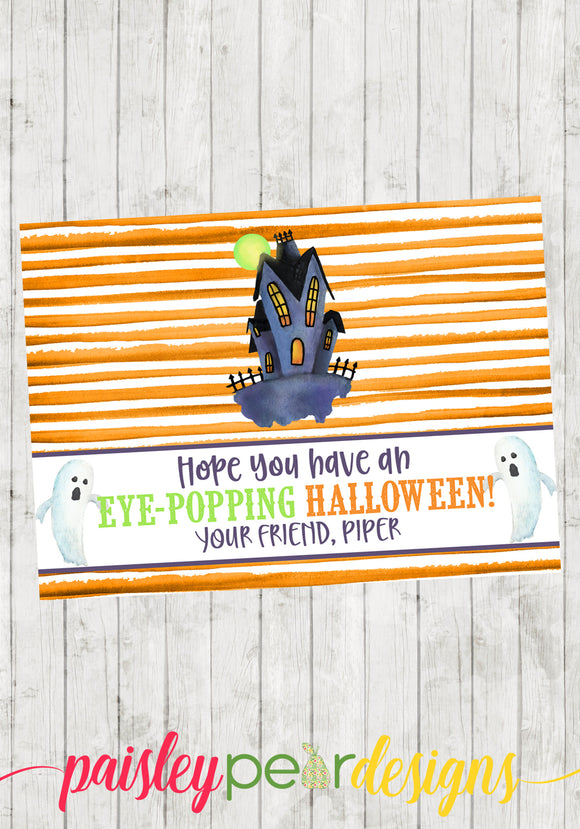 Eye Popping Halloween Tags