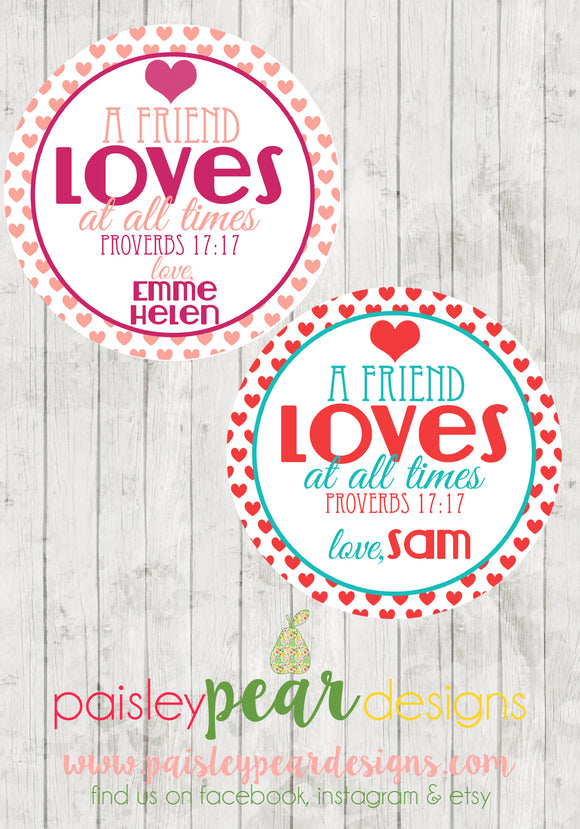 Friend Loves - Valentine Tags