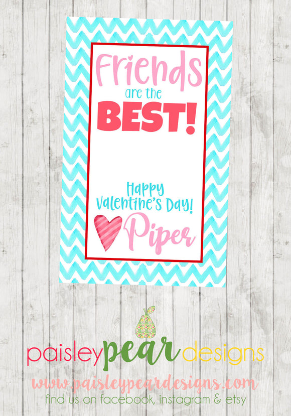 Friends are the Best - Valentine Tags