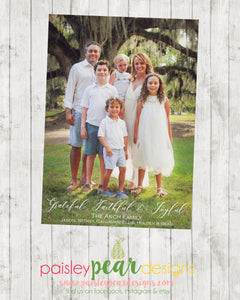 Grateful - Christmas Photo Card