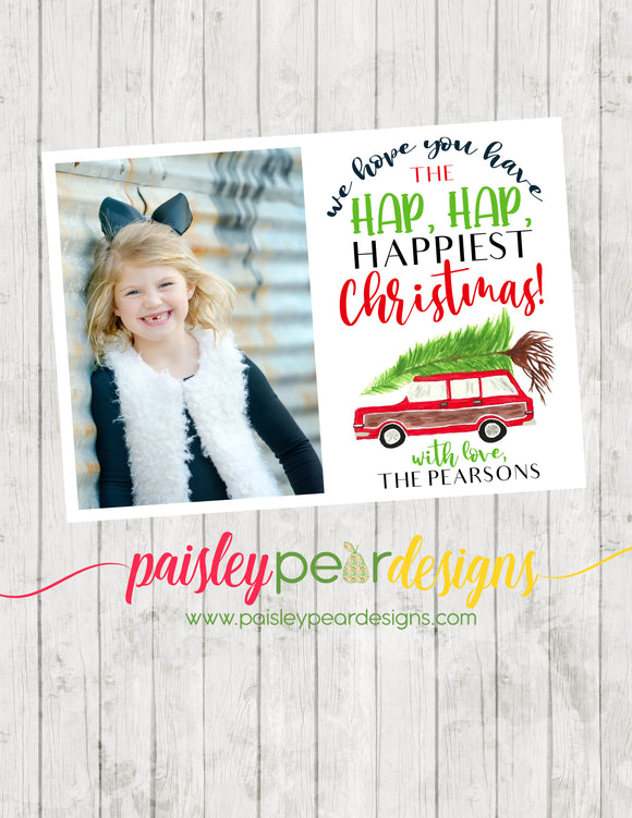 Hap Hap, Happiest Christmas! - Christmas Photo Card