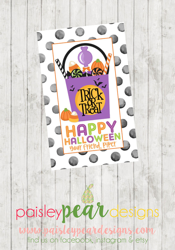 Happy Halloween - Treat Tag