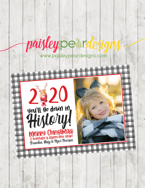 2020 History - Christmas Photo Card