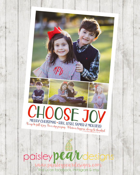 Choose Joy - Christmas Photo Card