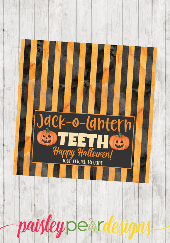 Jack-o-Lantern Teeth Tag