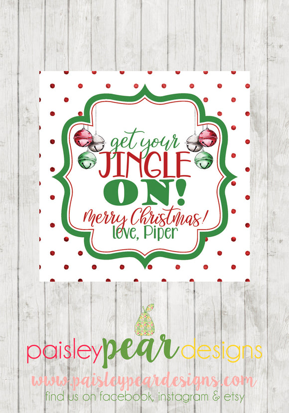 Get Your Jingle On- Christmas Treat Tags