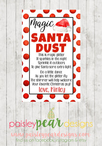 Magic Santa Dust - Christmas Treat Tags