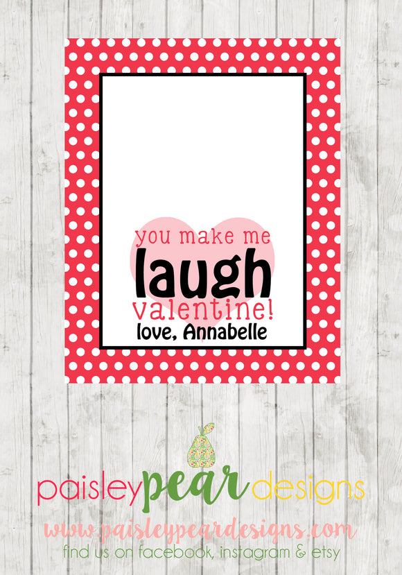 Laugh - Valentine Tags