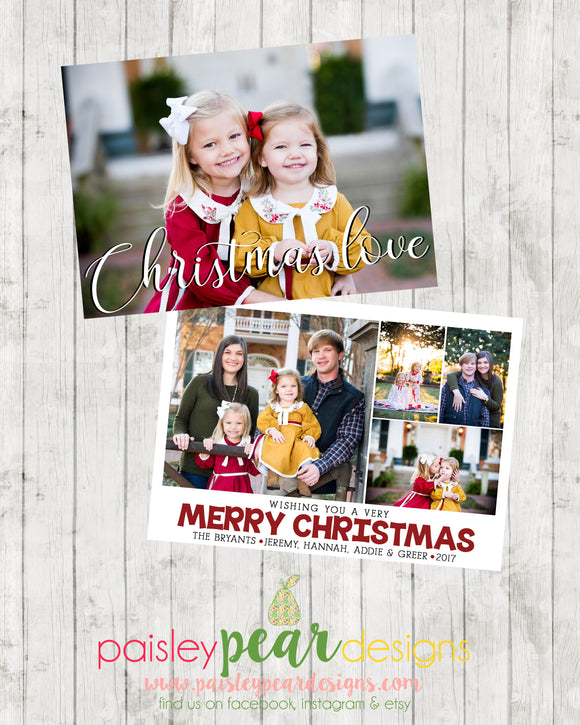 Christmas Love - Christmas Photo Card