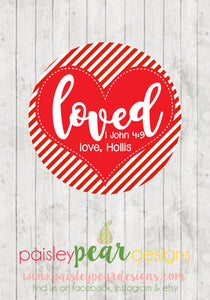 Loved - Valentine Tags