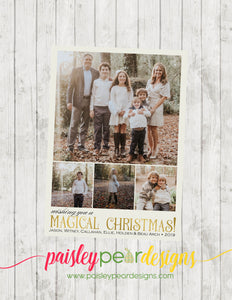Magical Christmas  - Christmas Photo Card