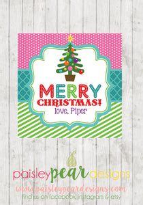 Bright Merry Christmas - Christmas Treat Tags