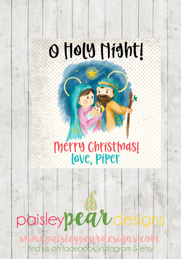 Holy Night - Christmas Treat Tags
