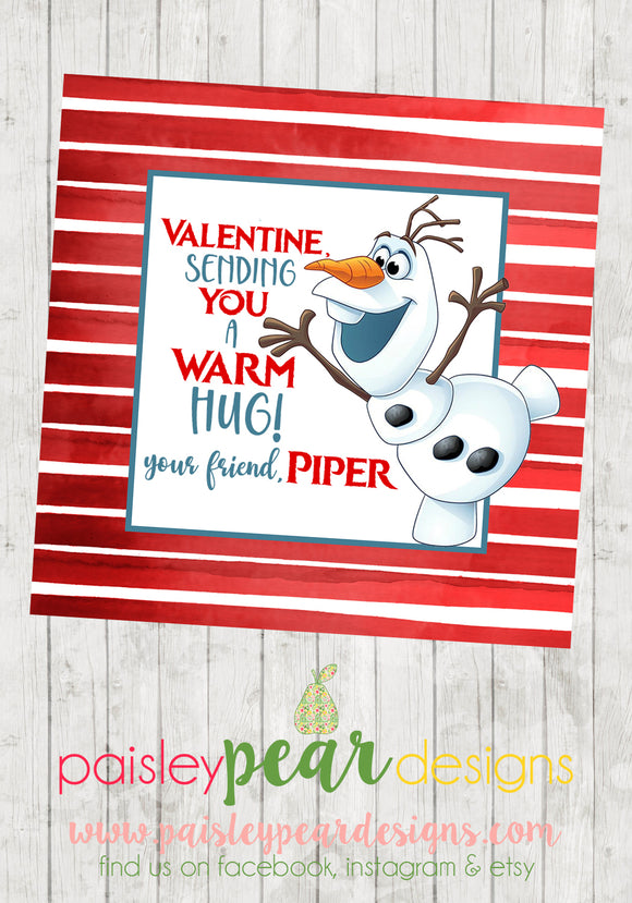 Olaf - Warm Hugs Tags