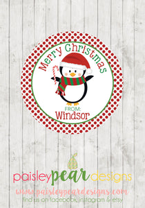 Penguin Christmas - Christmas Treat Tags