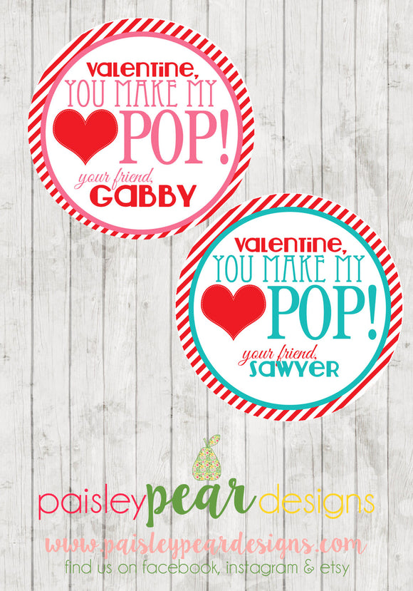 Pop - Valentine Tags