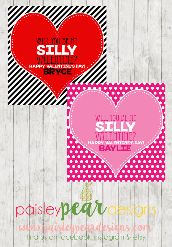 Silly Valentine - Valentine Tags