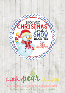 Snow Much Fun - Christmas Treat Tags