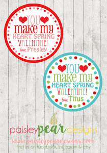 Heart Spring- Valentine Tags