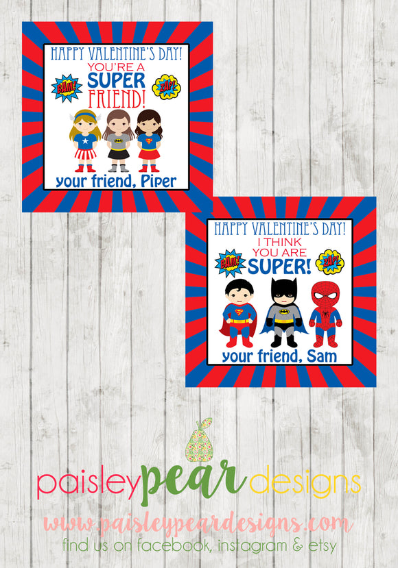 Super Friend - Valentine Tags