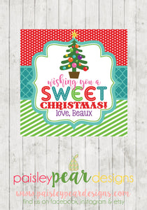 Sweet Christmas - Christmas Treat Tags
