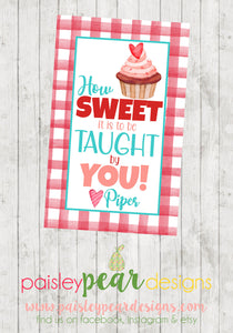 Sweet to be Taught - Teacher Tag