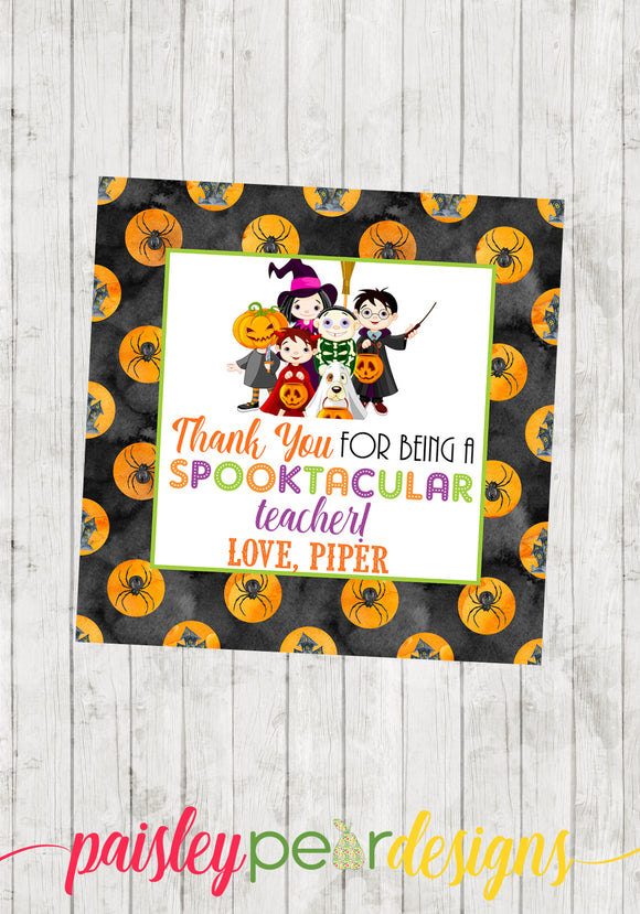 Spooktacular Teacher Tag