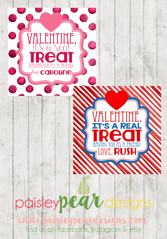 A Real Treat - Valentine Tags