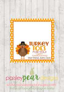 Turkey Toes - Thanksgiving Tag