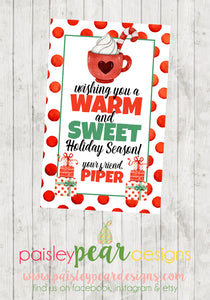 Warm and Sweet Holiday - Christmas Treat Tags