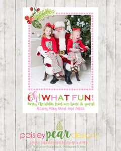 Oh What Fun! - Christmas Photo Card