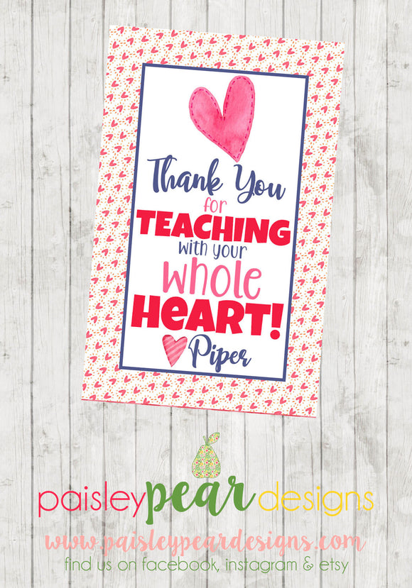 Whole Heart - Teacher Tag