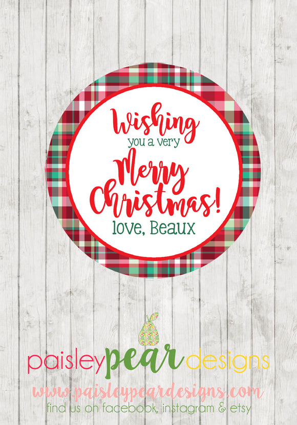 Wish You - Christmas Treat Tags