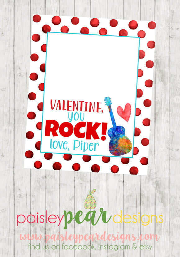 You Rock - Valentine Tags