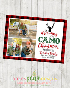 Camo Christmas - Christmas Photo Card