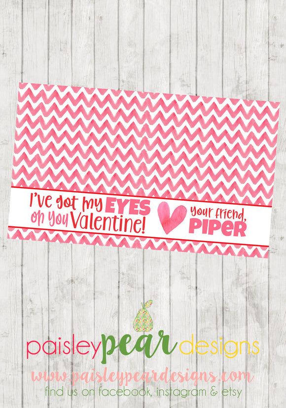 Eyes on You - Valentine Tags