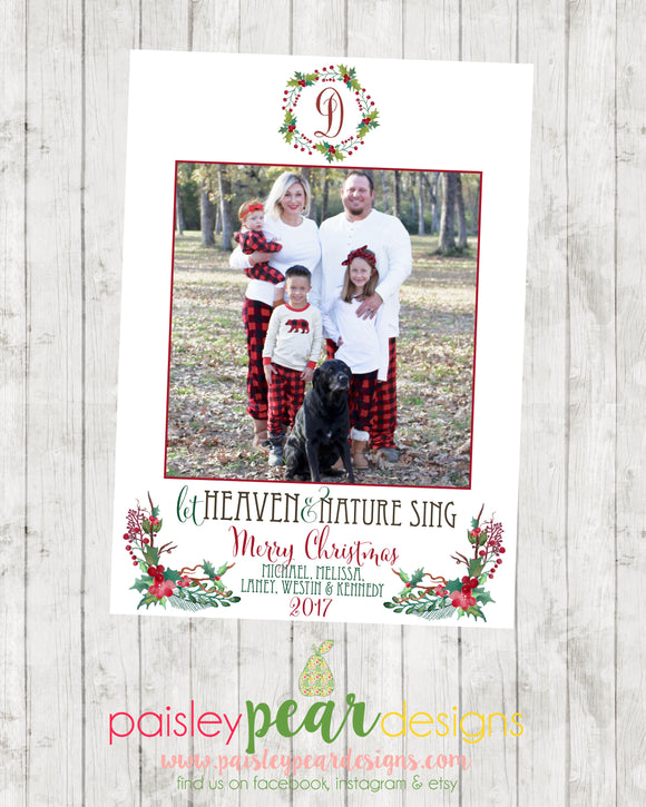 Heaven & Nature - Christmas Photo Card