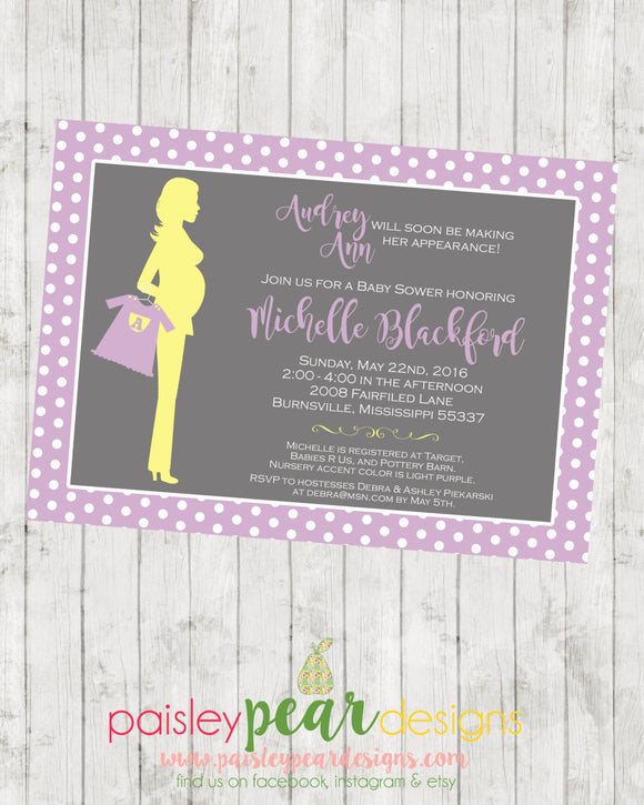 Shopping Mama - Baby Bump - Baby Shower - Invitation - customizable - DIGITAL IMAGE AVAILABLE