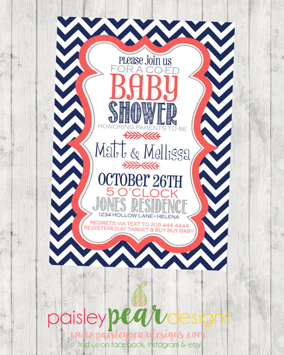 Typography - Baby Shower - Invitation - customizable - DIGITAL IMAGE AVAILABLE