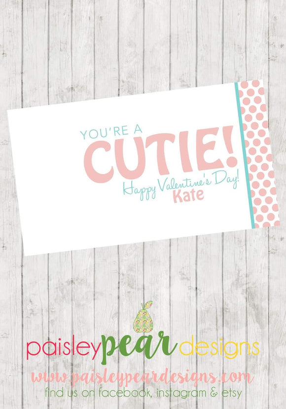 You're a Cutie - Teacher Tag