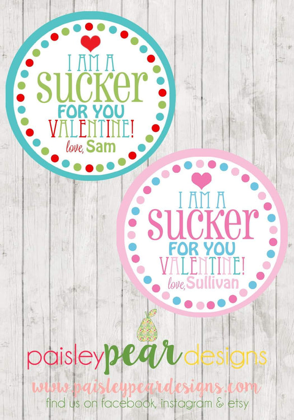 Sucker for You - Valentine Tags