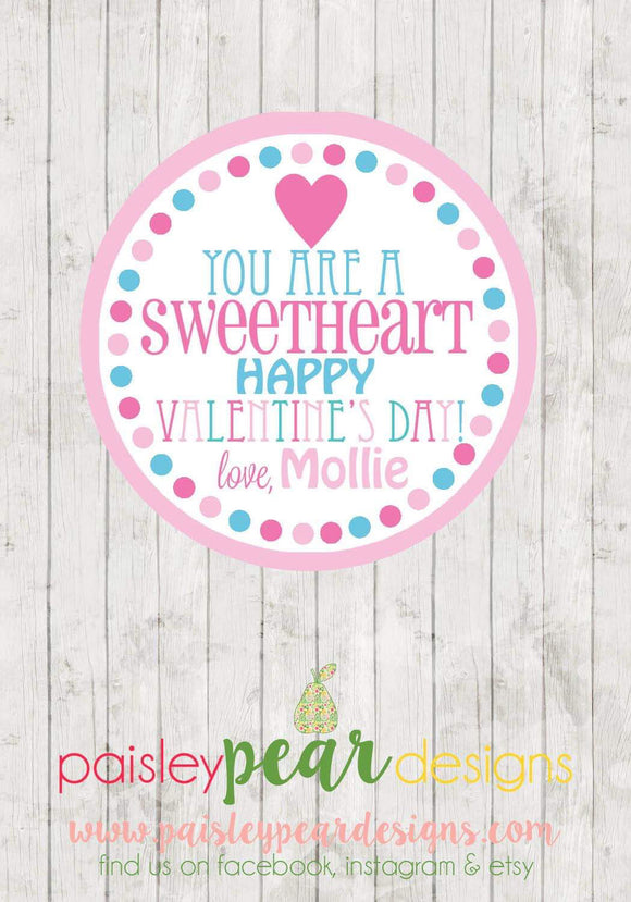 Sweetheart - Valentine Tags