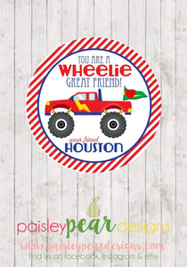 Wheelie Great Time - Valentine Tags