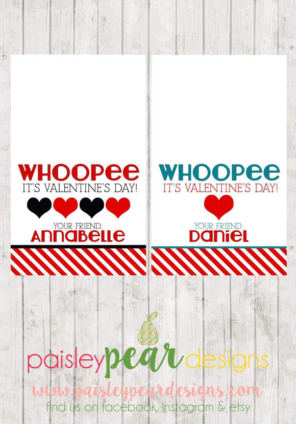 Whoppee Valentine Tags