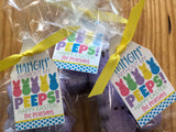 Hangin' (with or without) my Peeps treat tags - Easter