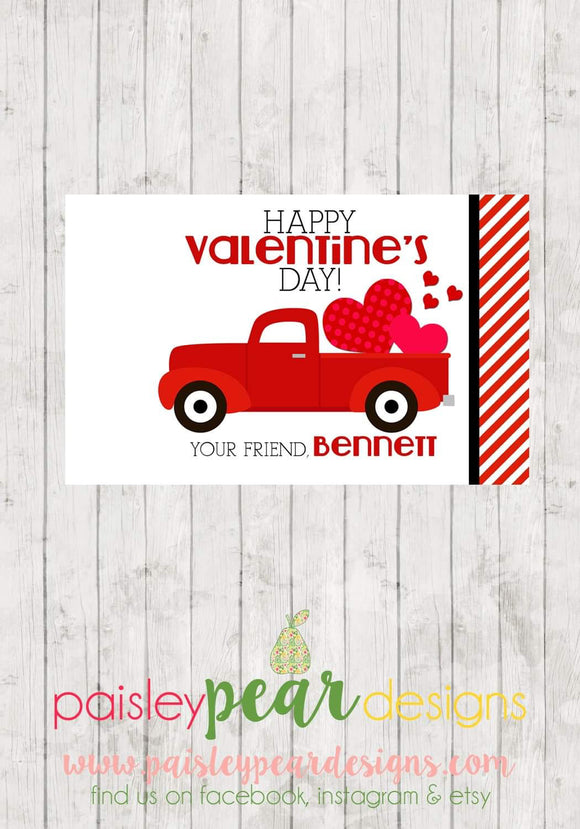 Heart Truck - Valentine Tags
